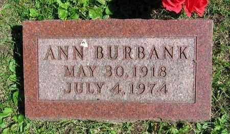 BURBANK, ANN - Linn County, Iowa | ANN BURBANK