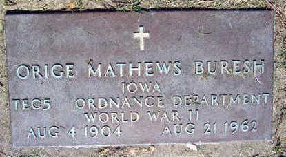 BURESH, ORIGE MATHEWS - Linn County, Iowa | ORIGE MATHEWS BURESH