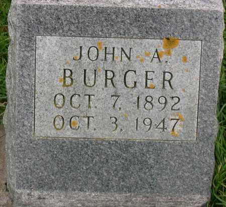 BURGER, JOHN A. - Linn County, Iowa | JOHN A. BURGER