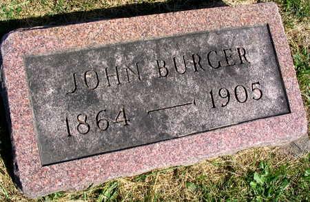 BURGER, JOHN - Linn County, Iowa | JOHN BURGER