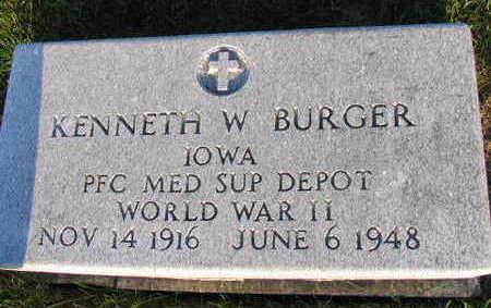 BURGER, KENNETH W. - Linn County, Iowa   KENNETH W. BURGER