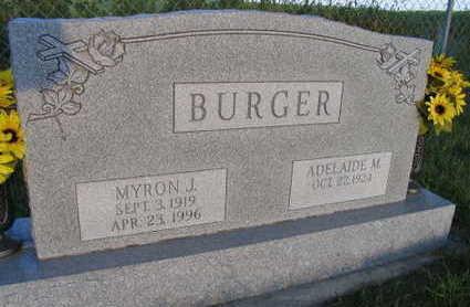 BURGER, MYRON J. - Linn County, Iowa   MYRON J. BURGER