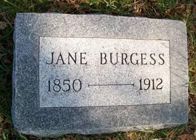 POLLOCK BURGESS, MARGARET JANE - Linn County, Iowa | MARGARET JANE POLLOCK BURGESS