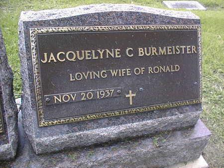 BURMEISTER, JACQUELYNE C. - Linn County, Iowa | JACQUELYNE C. BURMEISTER