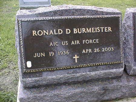 BURMEISTER, RONALD D. - Linn County, Iowa | RONALD D. BURMEISTER
