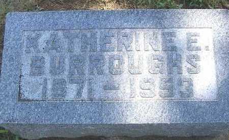 BURROUGHS, KATHERINE E. - Linn County, Iowa | KATHERINE E. BURROUGHS