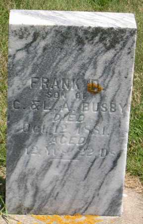 BUSBY, FRANK D. - Linn County, Iowa | FRANK D. BUSBY