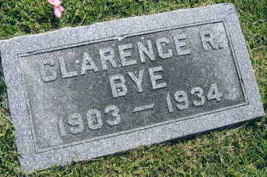 BYE, CLARENCE R. - Linn County, Iowa   CLARENCE R. BYE