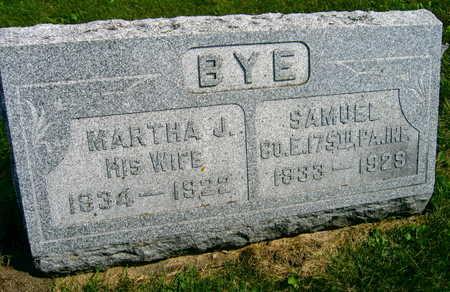 BYE, MARTHA J. - Linn County, Iowa | MARTHA J. BYE