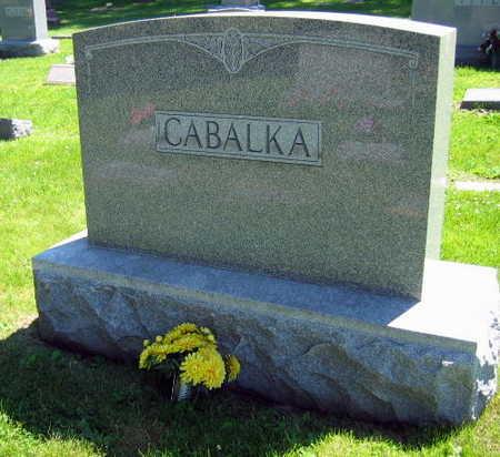 CABALKA, FAMILY STONE - Linn County, Iowa | FAMILY STONE CABALKA