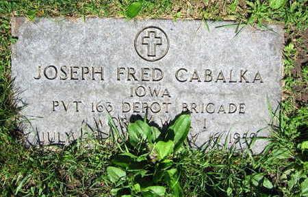 CABALKA, JOSEPH FRED - Linn County, Iowa | JOSEPH FRED CABALKA
