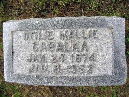 CABALKA, OTILIE MALLIE - Linn County, Iowa | OTILIE MALLIE CABALKA