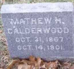 CALDERWOOD, MATHEW H. - Linn County, Iowa   MATHEW H. CALDERWOOD