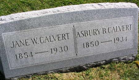 CALVERT, ASBURY B. - Linn County, Iowa | ASBURY B. CALVERT