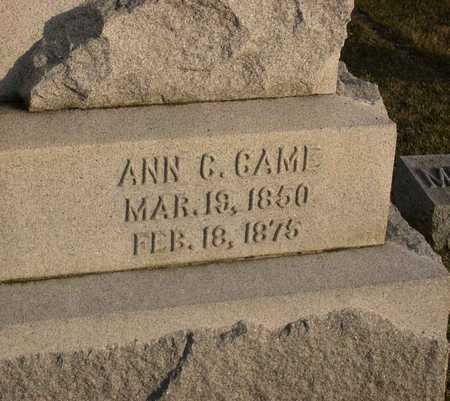 CAME, ANN C. - Linn County, Iowa | ANN C. CAME