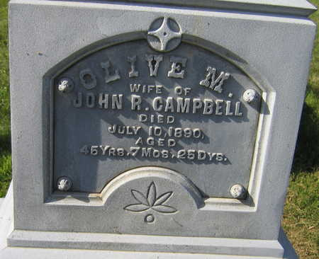 CAMPBELL, OLIVE M. - Linn County, Iowa   OLIVE M. CAMPBELL