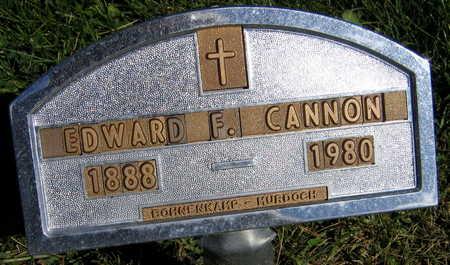 CANNON, EDWARD F. - Linn County, Iowa | EDWARD F. CANNON
