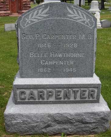 HAWTHORNE CARPENTER, BELLE - Linn County, Iowa | BELLE HAWTHORNE CARPENTER