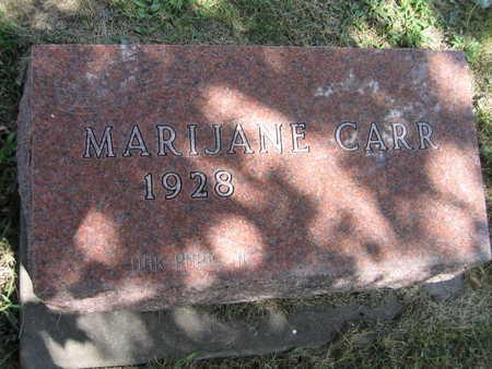 CARR, MARIJANE - Linn County, Iowa | MARIJANE CARR