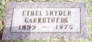 SNYDER CARRUTHERS, ETHEL - Linn County, Iowa | ETHEL SNYDER CARRUTHERS