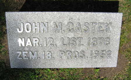 CASTEK, JOHN M. - Linn County, Iowa   JOHN M. CASTEK