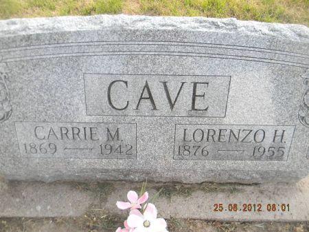 CAVE, LORENZO H. - Linn County, Iowa | LORENZO H. CAVE