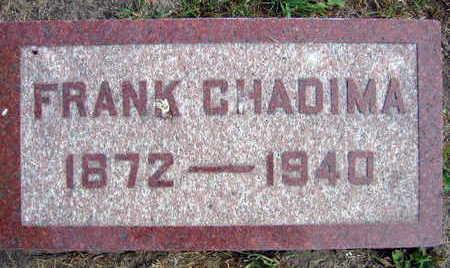 CHADIMA, FRANK - Linn County, Iowa   FRANK CHADIMA