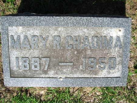 CHADIMA, MARY R, - Linn County, Iowa   MARY R, CHADIMA