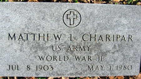 CHARIPAR, MATTHEW L. - Linn County, Iowa | MATTHEW L. CHARIPAR