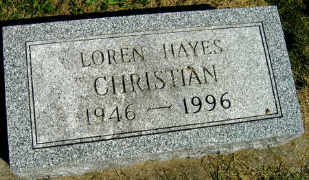 CHRISTIAN, LOREN HAYES - Linn County, Iowa | LOREN HAYES CHRISTIAN