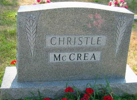 CHRISTLE MCCREA, FAMILY STONE - Linn County, Iowa   FAMILY STONE CHRISTLE MCCREA