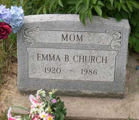 CHURCH, EMMA B. - Linn County, Iowa | EMMA B. CHURCH