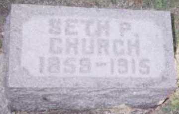 CHURCH, SETH P. - Linn County, Iowa   SETH P. CHURCH