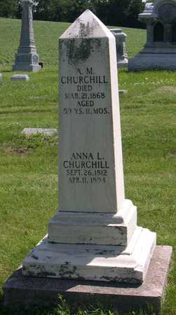 CHURCHILL, A. M. - Linn County, Iowa | A. M. CHURCHILL