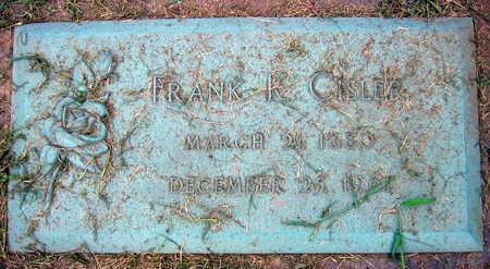 CISLER, FRANK K. - Linn County, Iowa   FRANK K. CISLER