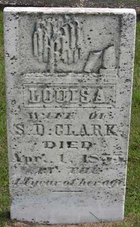 CLARK, LOUISA - Linn County, Iowa   LOUISA CLARK