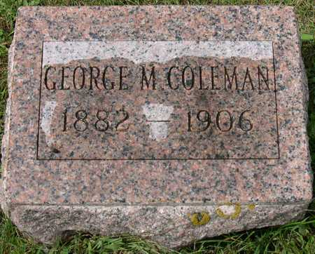 COLEMAN, GEORGE M. - Linn County, Iowa   GEORGE M. COLEMAN