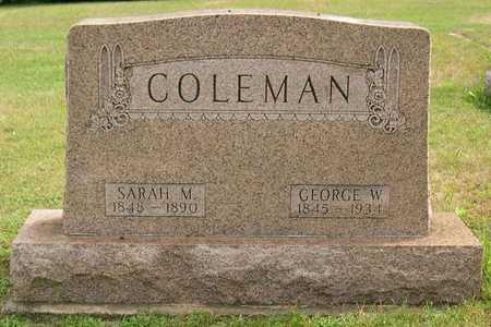 COLEMAN, GEORGE W. - Linn County, Iowa | GEORGE W. COLEMAN