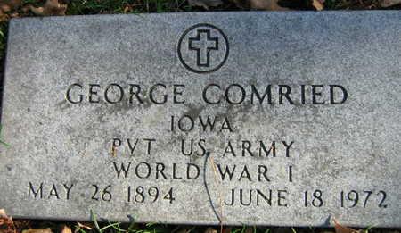 COMRIED, GEORGE - Linn County, Iowa | GEORGE COMRIED