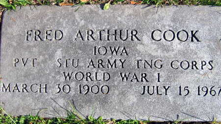 COOK, FRED ARTHUR - Linn County, Iowa | FRED ARTHUR COOK