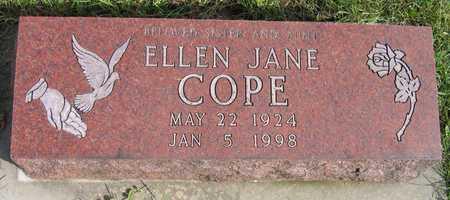 COPE, ELLEN JANE - Linn County, Iowa | ELLEN JANE COPE