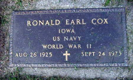 COX, RONALD EARL - Linn County, Iowa | RONALD EARL COX