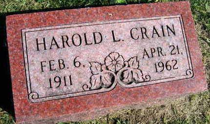 CRAIN, HAROLD L. - Linn County, Iowa | HAROLD L. CRAIN
