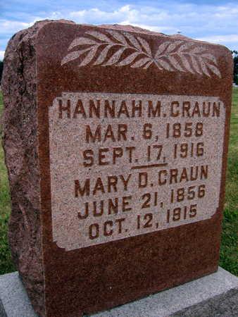 CRAUN, MARY D. - Linn County, Iowa   MARY D. CRAUN