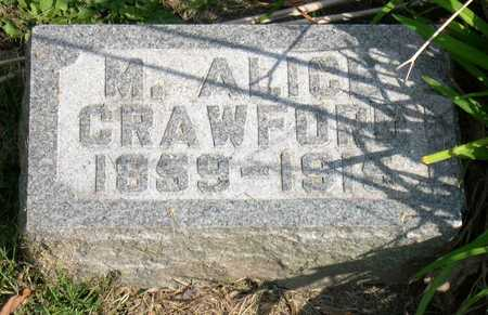 CRAWFORD, M. ALICE - Linn County, Iowa | M. ALICE CRAWFORD