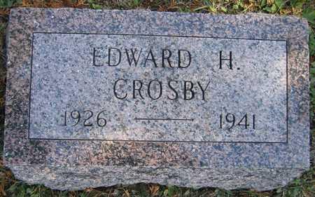 CROSBY, EDWARD H. - Linn County, Iowa   EDWARD H. CROSBY