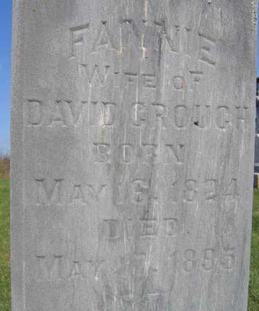 CROUCH, FANNIE - Linn County, Iowa   FANNIE CROUCH