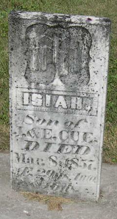 CUE, ISIAH - Linn County, Iowa | ISIAH CUE