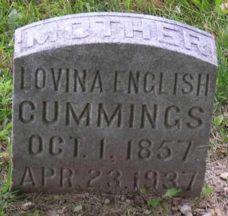 CUMMINGS, LOVINA ENGLISH - Linn County, Iowa   LOVINA ENGLISH CUMMINGS