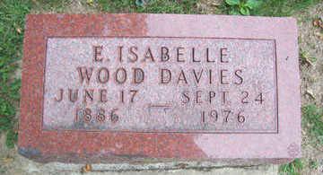 WOOD DAVIES, E. ISABELLE - Linn County, Iowa | E. ISABELLE WOOD DAVIES